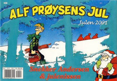 Cover for Alf Prøysens Jul (Hjemmet / Egmont, 2001 series) #2001