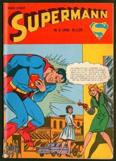 Cover for Supermann (Serieforlaget / Se-Bladene / Stabenfeldt, 1966 series) #9/1966