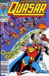 Cover for Quasar (Marvel, 1989 series) #4 [Newsstand]