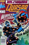Cover for Quasar (Marvel, 1989 series) #5 [Newsstand]