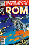 Cover for ROM (Marvel, 1979 series) #10 [Newsstand Edition]