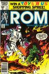 Cover for ROM (Marvel, 1979 series) #11 [Newsstand Edition]