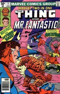 Cover Thumbnail for Marvel Two-in-One (Marvel, 1974 series) #71 [Newsstand]