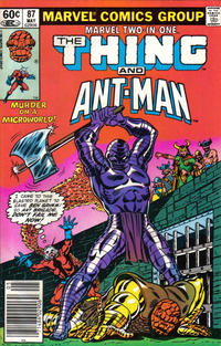 Cover Thumbnail for Marvel Two-in-One (Marvel, 1974 series) #87 [Newsstand]
