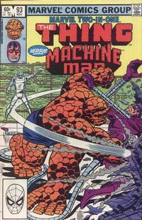 Cover Thumbnail for Marvel Two-in-One (Marvel, 1974 series) #93 [Direct]