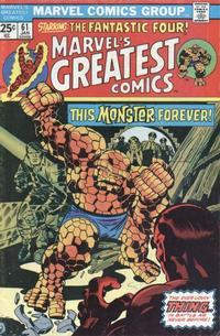 Cover Thumbnail for Marvel's Greatest Comics (Marvel, 1969 series) #61
