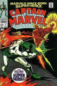 Cover Thumbnail for Marvel's Space-Born Superhero! Captain Marvel (Marvel, 1968 series) #2