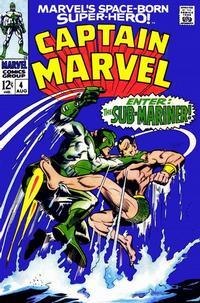 Cover Thumbnail for Marvel's Space-Born Superhero! Captain Marvel (Marvel, 1968 series) #4