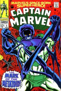 Cover Thumbnail for Marvel's Space-Born Superhero! Captain Marvel (Marvel, 1968 series) #5