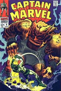 Cover Thumbnail for Marvel's Space-Born Superhero! Captain Marvel (Marvel, 1968 series) #6