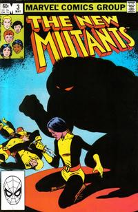 Cover Thumbnail for The New Mutants (Marvel, 1983 series) #3 [Direct Edition]