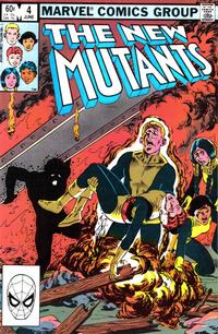 Cover Thumbnail for The New Mutants (Marvel, 1983 series) #4 [Direct Edition]