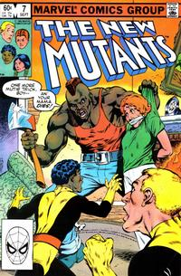 Cover Thumbnail for The New Mutants (Marvel, 1983 series) #7 [Direct Edition]