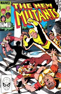 Cover Thumbnail for The New Mutants (Marvel, 1983 series) #10 [Direct Edition]