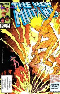 Cover Thumbnail for The New Mutants (Marvel, 1983 series) #11 [Direct Edition]