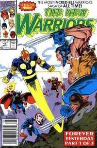 Cover Thumbnail for The New Warriors (Marvel, 1990 series) #11 [Newsstand]