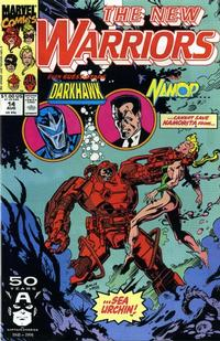 Cover Thumbnail for The New Warriors (Marvel, 1990 series) #14 [Direct]