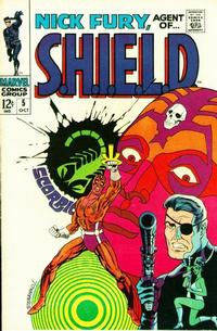 Cover Thumbnail for Nick Fury, Agent of SHIELD (Marvel, 1968 series) #5