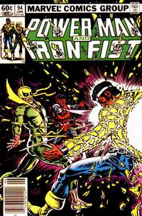 Cover Thumbnail for Power Man and Iron Fist (Marvel, 1981 series) #94 [newsstand 60¢ edition]