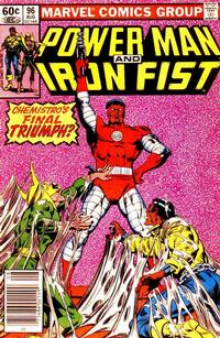 Cover for Power Man and Iron Fist (Marvel, 1981 series) #96 [newsstand 60¢ edition]