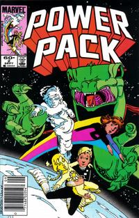 Cover Thumbnail for Power Pack (Marvel, 1984 series) #2 [Newsstand Edition]