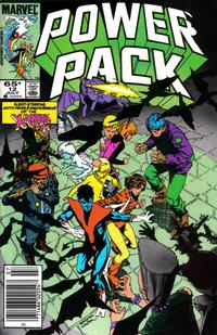 Cover for Power Pack (Marvel, 1984 series) #12 [Direct Edition]