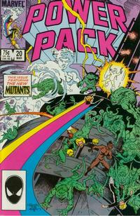 Cover for Power Pack (Marvel, 1984 series) #20 [Newsstand Edition]