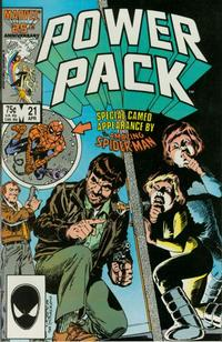 Cover Thumbnail for Power Pack (Marvel, 1984 series) #21 [Direct]