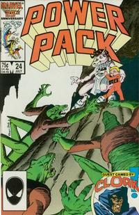 Cover Thumbnail for Power Pack (Marvel, 1984 series) #24 [Direct]