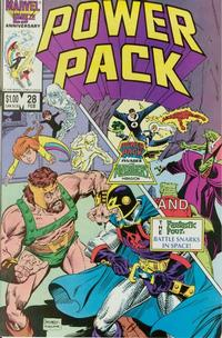 Cover Thumbnail for Power Pack (Marvel, 1984 series) #28