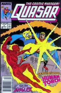 Cover Thumbnail for Quasar (Marvel, 1989 series) #3 [Newsstand]
