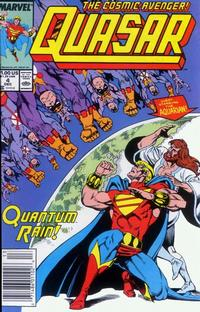 Cover Thumbnail for Quasar (Marvel, 1989 series) #4 [Newsstand]