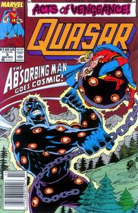 Cover Thumbnail for Quasar (Marvel, 1989 series) #5 [Newsstand]