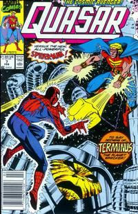Cover Thumbnail for Quasar (Marvel, 1989 series) #7 [Newsstand]