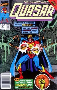 Cover Thumbnail for Quasar (Marvel, 1989 series) #8 [Newsstand]