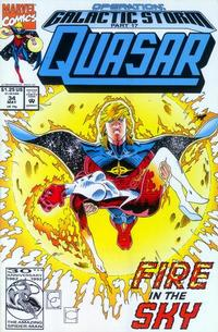 Cover Thumbnail for Quasar (Marvel, 1989 series) #34 [Direct]