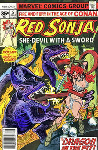 Cover Thumbnail for Red Sonja (Marvel, 1977 series) #5 [35 cent cover price variant]