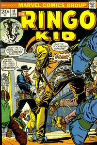 Cover Thumbnail for The Ringo Kid (Marvel, 1970 series) #18