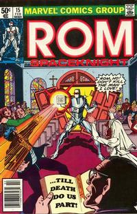 Cover Thumbnail for ROM (Marvel, 1979 series) #15 [Newsstand Edition]