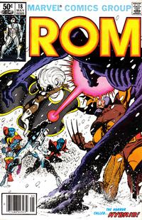 Cover Thumbnail for ROM (Marvel, 1979 series) #18 [Newsstand Edition]