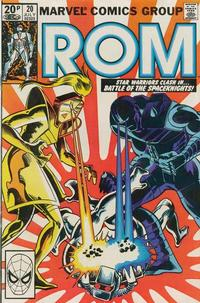 Cover Thumbnail for ROM (Marvel, 1979 series) #20 [British Edition]