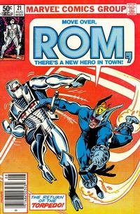 Cover Thumbnail for ROM (Marvel, 1979 series) #21 [Newsstand Edition]