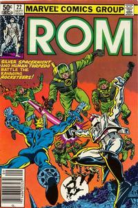 Cover Thumbnail for ROM (Marvel, 1979 series) #22 [Newsstand Edition]