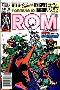 Cover Thumbnail for ROM (Marvel, 1979 series) #24 [Newsstand Edition]