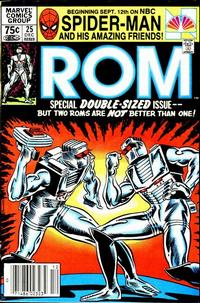 Cover Thumbnail for ROM (Marvel, 1979 series) #25 [Newsstand Edition]