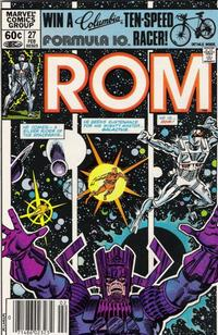 Cover Thumbnail for ROM (Marvel, 1979 series) #27 [Newsstand Edition]