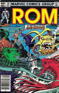 Cover Thumbnail for ROM (Marvel, 1979 series) #34 [Newsstand Edition]