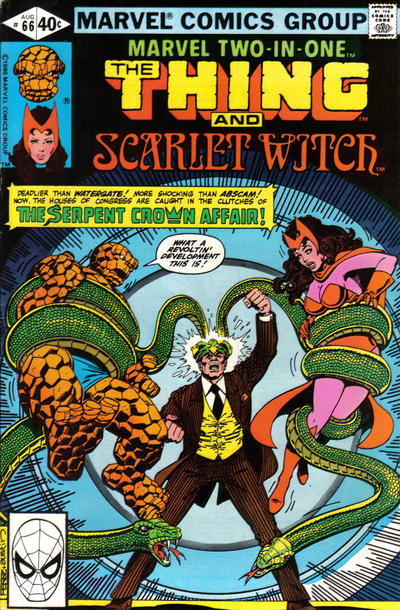 Cover for Marvel Two-in-One (Marvel, 1974 series) #66 [Newsstand]