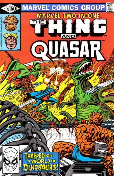 Cover for Marvel Two-in-One (Marvel, 1974 series) #73 [Direct]
