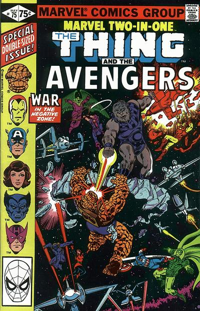 Cover for Marvel Two-in-One (Marvel, 1974 series) #75 [Newsstand]
